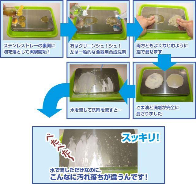 驚異の洗浄力 ごま油で実験しました!!